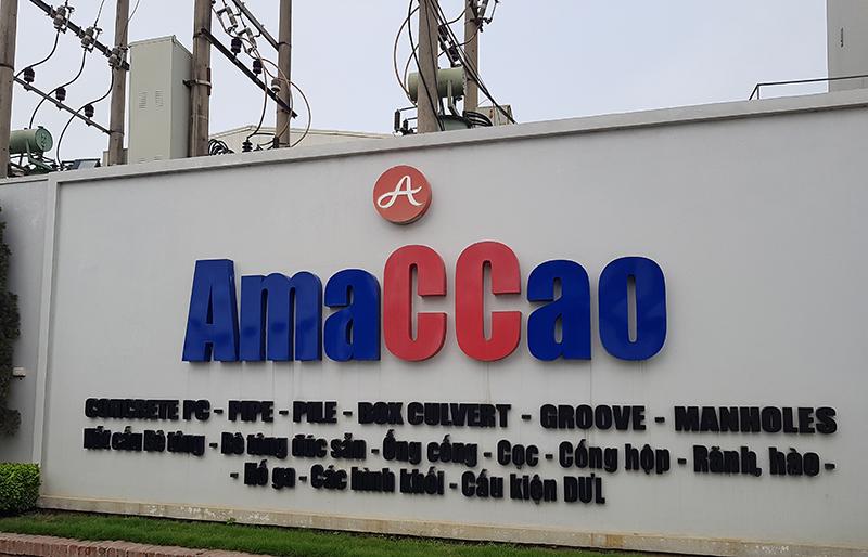 Nhà máy bê tông Amaccao tại Cụm công nghiệp Vân Nội (Đông Anh - Hà Nội)