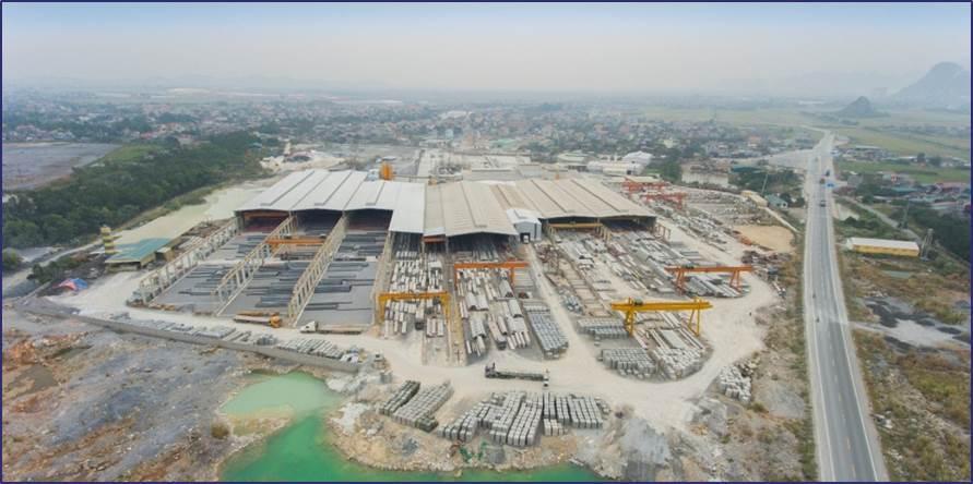 Nhà máy bê tông Amaccao tại cụm Công nghiệp Hà Nam